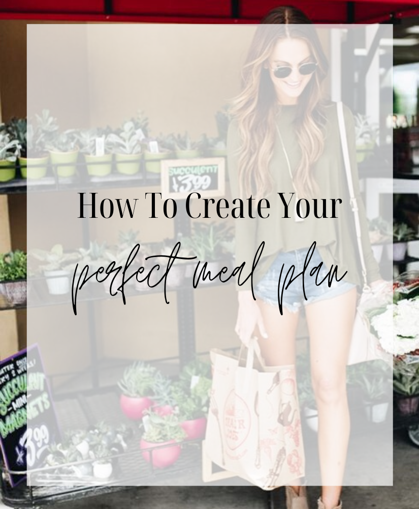 create perfect meal plan